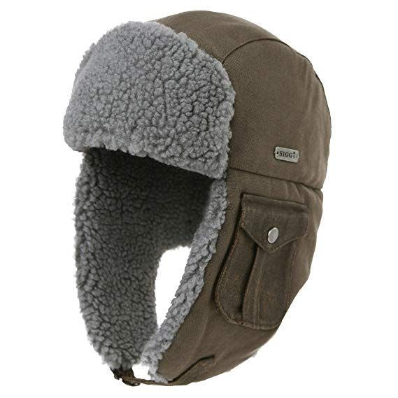 401f0e7259f SIGGI Cotton Trapper Hat Faux Fur Earflaps Hunting Hat Warm Pillow Lining  Unisex Review