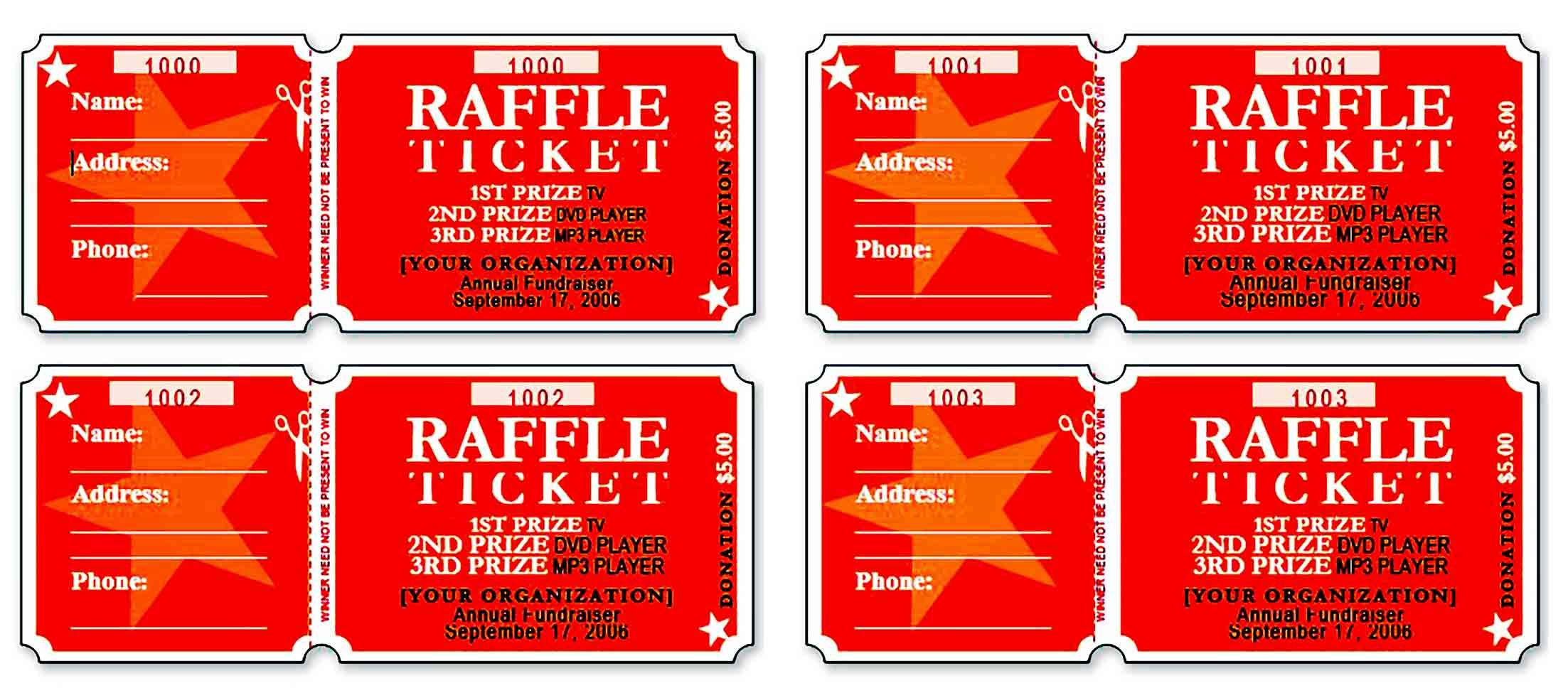Raffle Ticket Template And How To Make One To Make Your Brand Known By Customers Raffle Tickets Template Ticket Template Raffle Ticket Raffle ticket with stub template