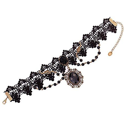 Women's Black Flower Lace Choker Necklace Beads Chain Pendant Rose Decorate Sanwood http://www.amazon.co.uk/dp/B00N1PCKI6/ref=cm_sw_r_pi_dp_L4s4vb0V6CFGK