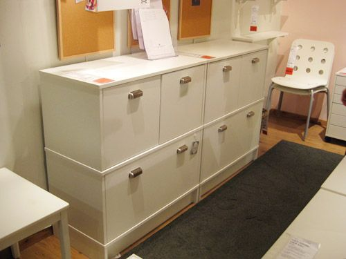 file storage & office organization in an effektiv ikea cabinet
