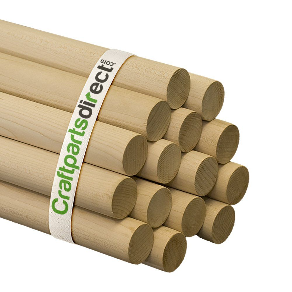 Wooden Dowel Rods 1 1 4 X 36 Unfinished Hardwood Sticks For Crafts And Diy Ers Craftparts Direct In 2020 Crafts Cool Things To Build Arts And Crafts Supplies