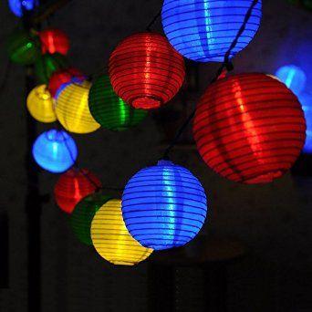 led solar globe lampion kugeln au en lichterkette laterne. Black Bedroom Furniture Sets. Home Design Ideas