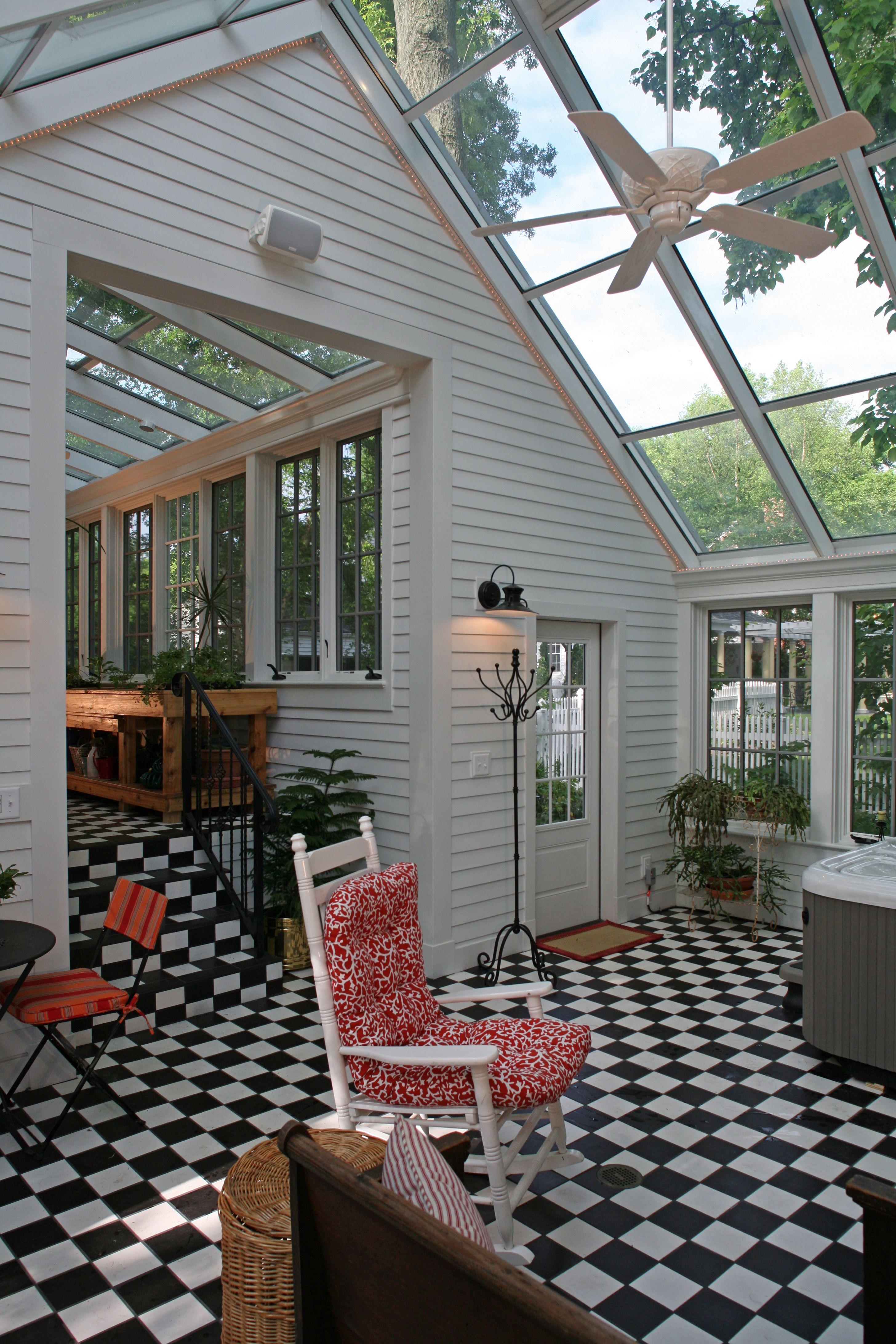 Sunroom Addition House Design Conservatory Design: Kirkwood, MO Solarium, Guest House/Garage Addition Historic Award Winner