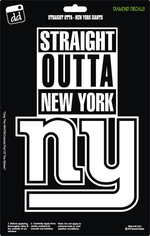 release date: de3df eaf13 Straight Outta New York Giants NFL Football Logo Decal Vinyl ...