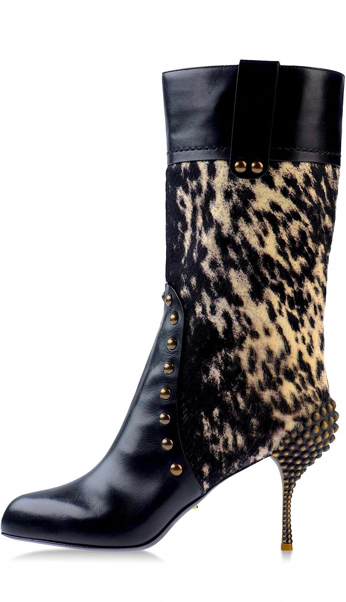06eab83e7b0 Sergio Rossi... shoes  boot  fur  leather  heel  SergioRossi ...