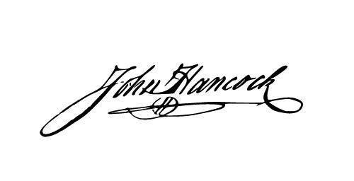 john hancock artilleries handwriting of famous dead folk