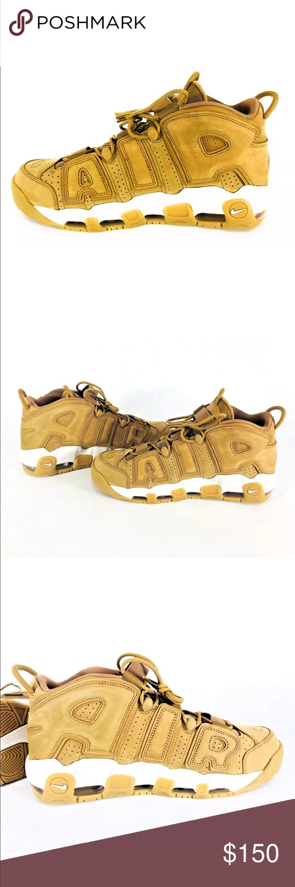 10ba8a6bcb Nike Air More Uptempo 96 PRM Nike Air More Uptempo 96 PRM Flax Phantom Wheat  AA4060 200 Men's Size 12 New (w/out box) Nike Shoes Sneakers