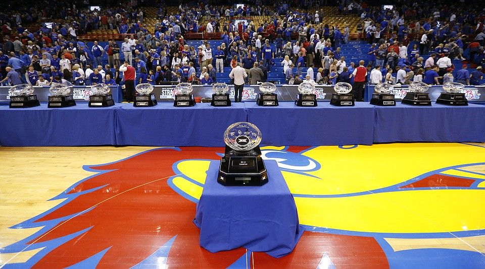 Kansas Jayhawks 13th Straight Big 12 Season Championship Earned 2 22 17 With 3 More Games To Go In The Kansas Jayhawks Basketball Kansas Basketball Rock Chalk
