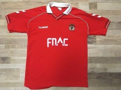 new styles f79a6 a4231 Benfica Red white Vintage Hummel Fnac Jersey S.L.B Size XL ...