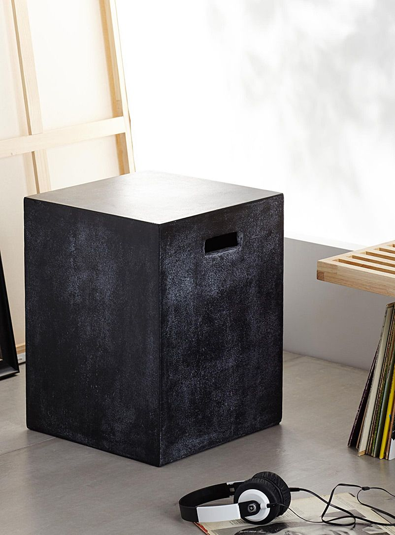 Concrete cube end table | End tables, Versatile table ...