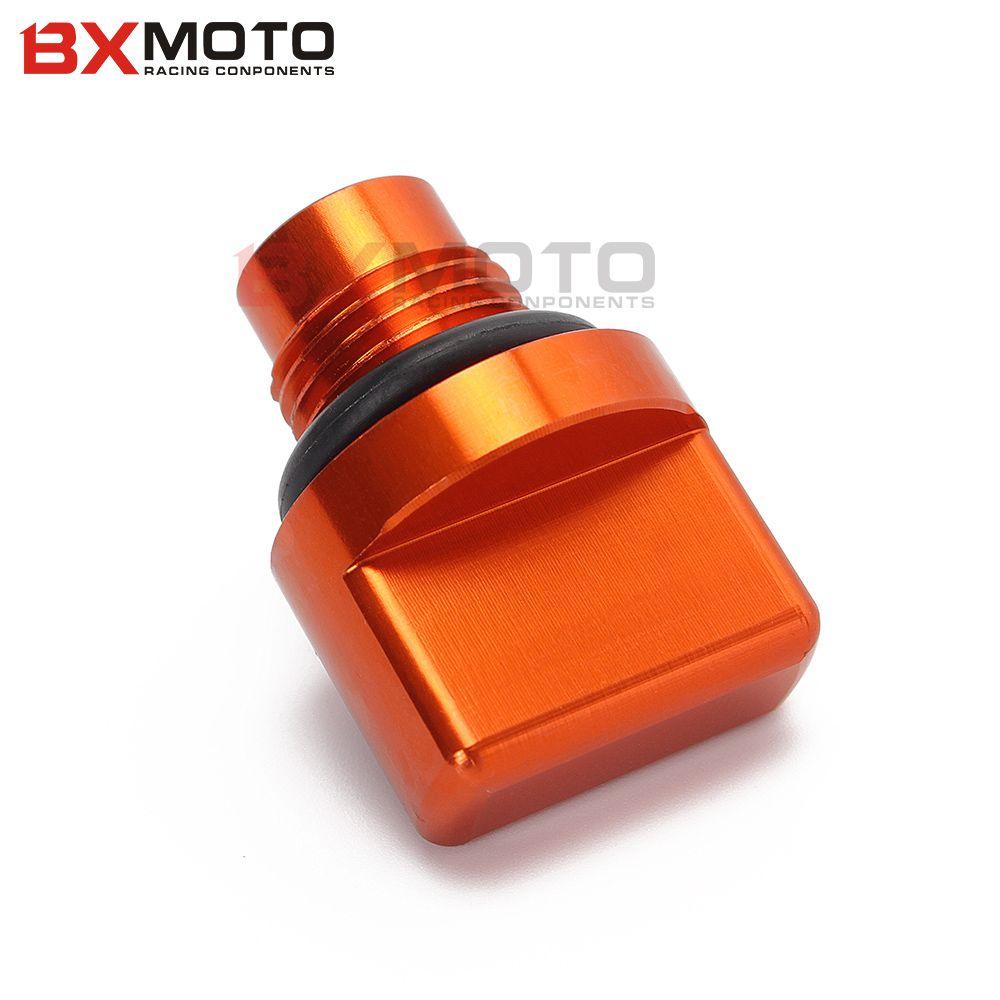 Motorcycle Accessories Cnc Orange Engine Magnetic Oil Drain Plug For Ktm Duke 125 200 390 Motorcycle Accessories Drain Plugs Ktm