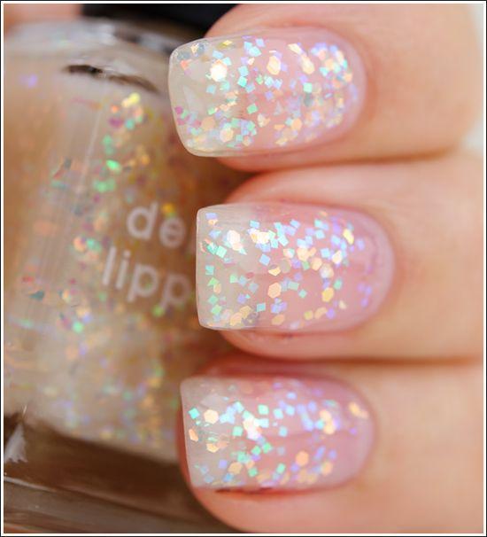 Iridescent Glitter Nails   ♥ GIRLY-NESS ♥   Pinterest   Glitter ...