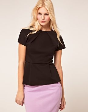 ASOS Top With Pleat Front In Neoprene  $39.99