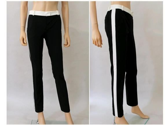 1990 Joseph Pants black and white extra small 34 / by lesclodettes