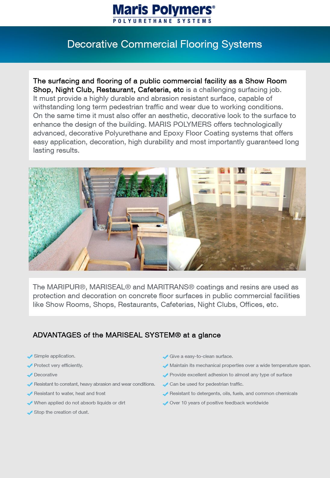 marispolymers, DecorativeFlooringSystems (With images)