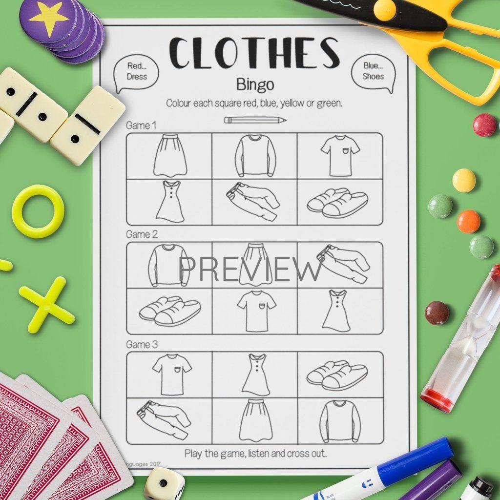 Clothes Bingo Game