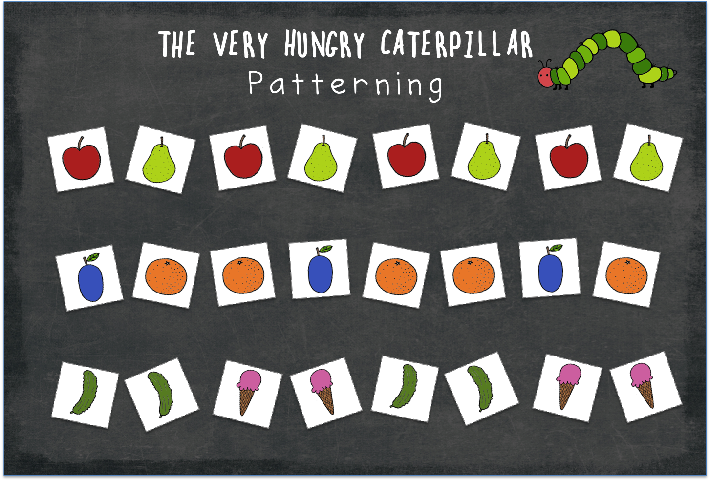 Free The Very Hungry Caterpillar Food Printable For