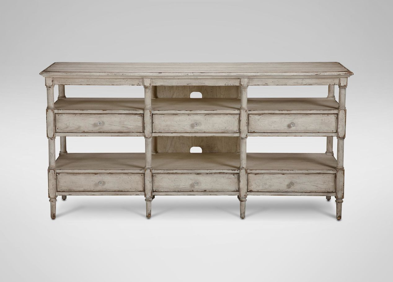 Normandy Media Console Tv And Cabinets Ethan Allen
