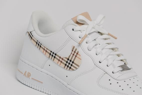 Nike Air Force 1 Custom Made Plaid Edition 1 All sizes Available