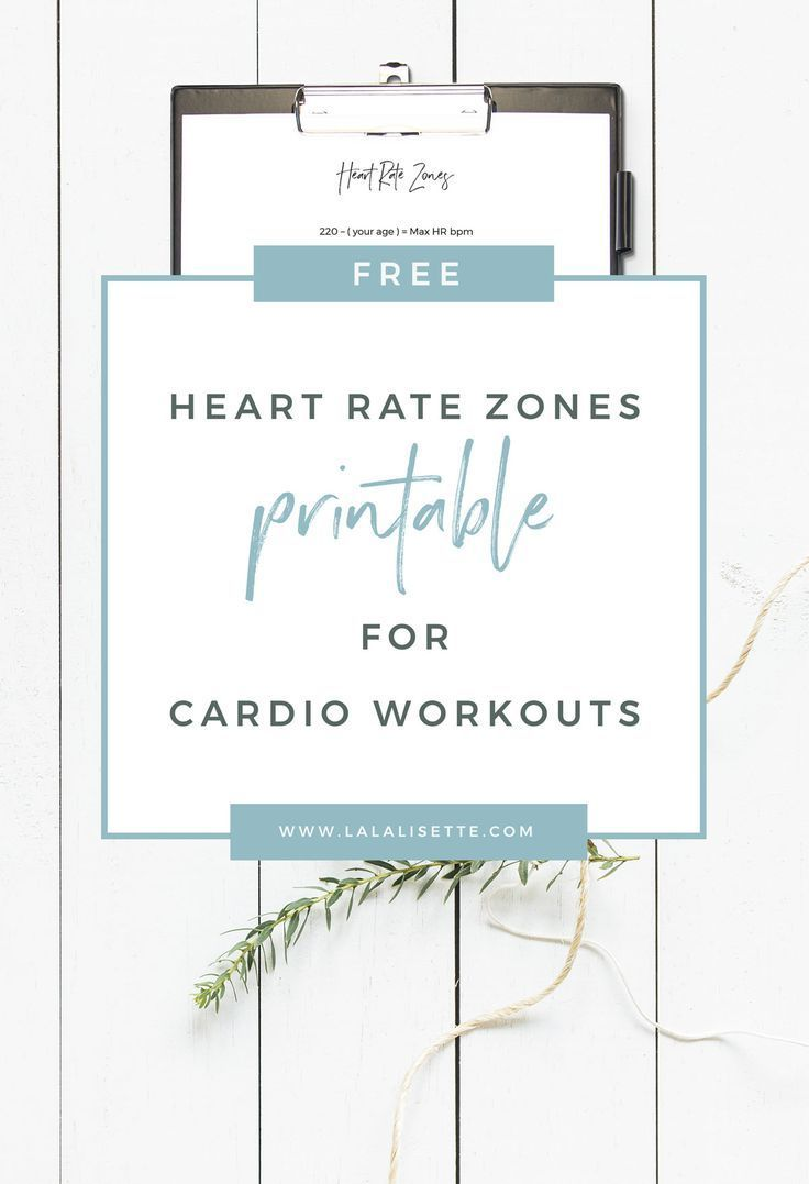 FREE Heart Rate Zones printable for cardio exercises - #fitness #printable #cardio #free - La La -Li...