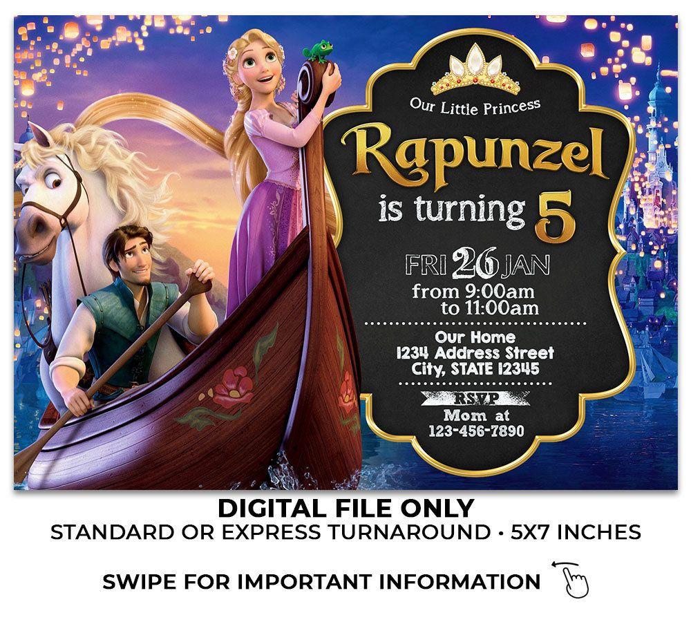 invitation rapunzel birthday party