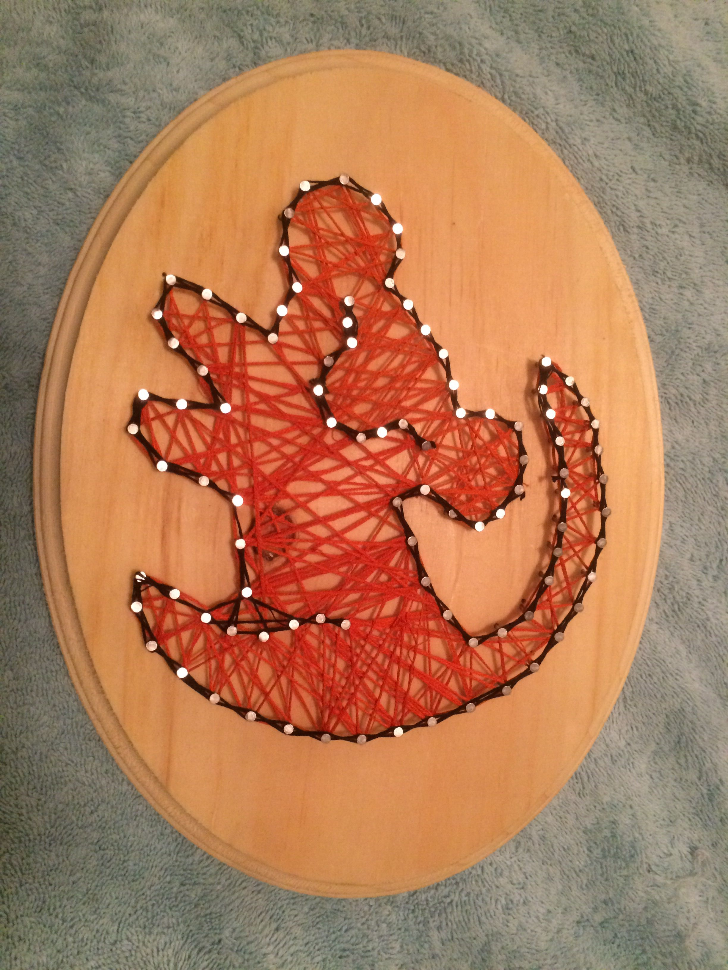 Simba String Art! #pinterestparty