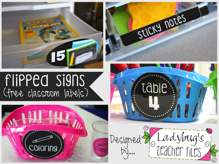 Ladybug's Teacher Files: Pin It Away! (Free Flipped Signs Collection)