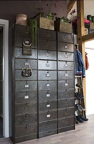 perfect old card catalog for your closet for all of your incidentals i see the drawers are. Black Bedroom Furniture Sets. Home Design Ideas