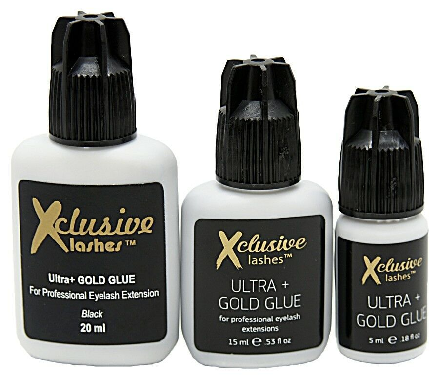220fd69896f PRO GLUE for individual EYELASH EXTENSION Ultra GOLD Strong BLACK 15 ml NEW  8052440809912 eBay #