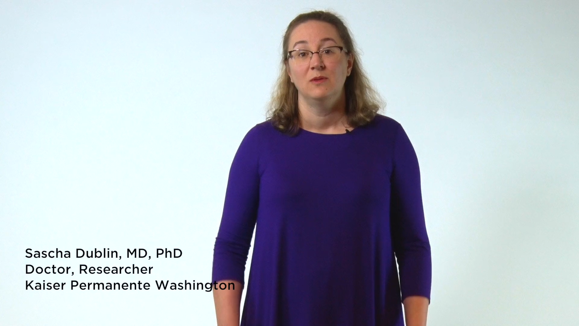 In This Short Video Dr Sascha Dublin Tells How Her Work As A