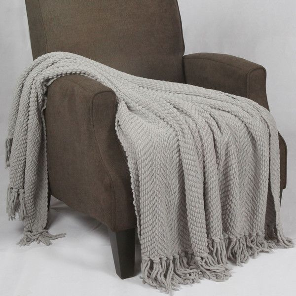 Throw Blankets For Couches Amusing Boon Throw & Blanket Tweed Knitted Throw Blanket & Reviews  Wayfair Decorating Design