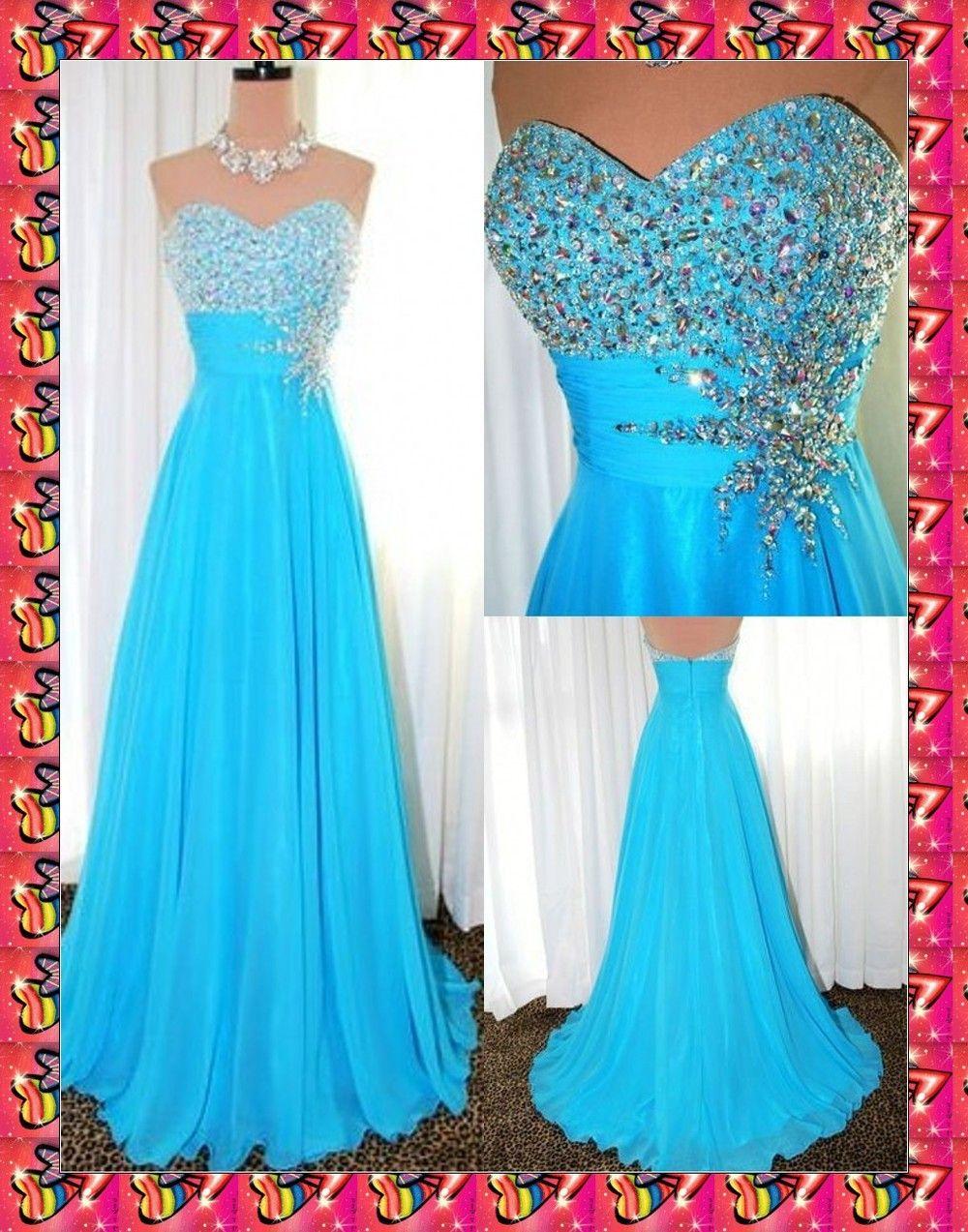 Vestidos de noche color azul turquesa - Vestidos Azul Turquesa De Noche