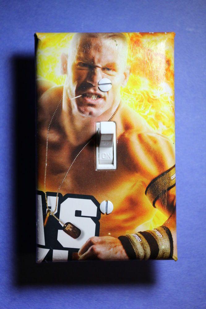 Wwe Bedroom Decor: John Cena WWE Light Switch Cover Plate Wrestling Boys