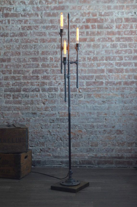 Bare bulb floor lamp industrial floor lamp gothic lamp bare bulb floor lamp industrial floor lamp gothic lamp steampunk lamps pipe lamp industrial furniture mozeypictures Image collections