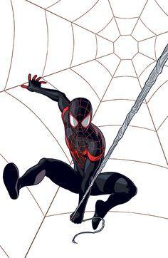 #Ultimate #Spiderman #Fan #Art. (Ultimate Spider-Man Miles Morales) By: Jamie Mckelvie. ÅWESOMENESS!!!™ ÅÅÅ+