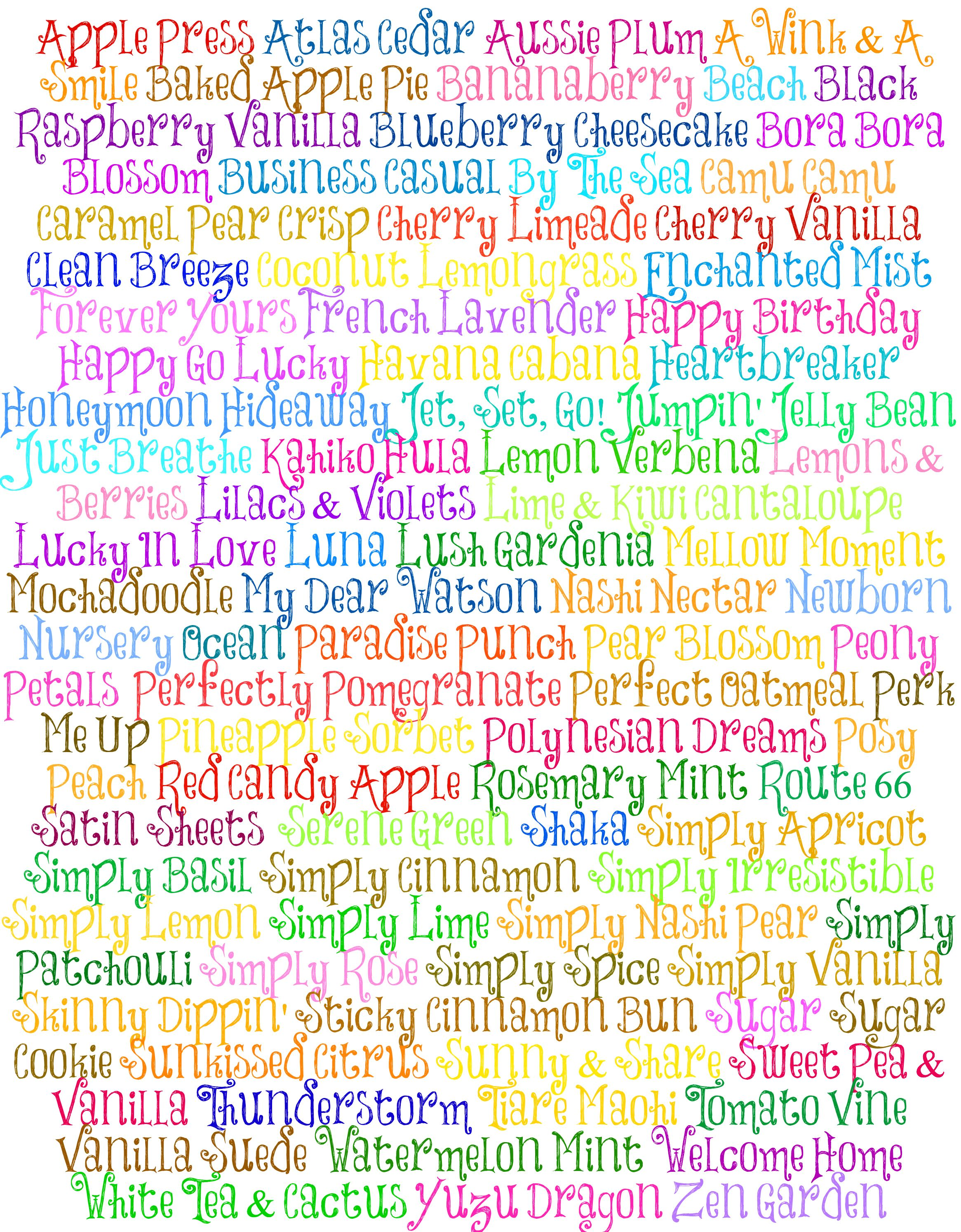 Alphabetical scent list <3 #scentsy | #SERENDIPITY SCENTSY