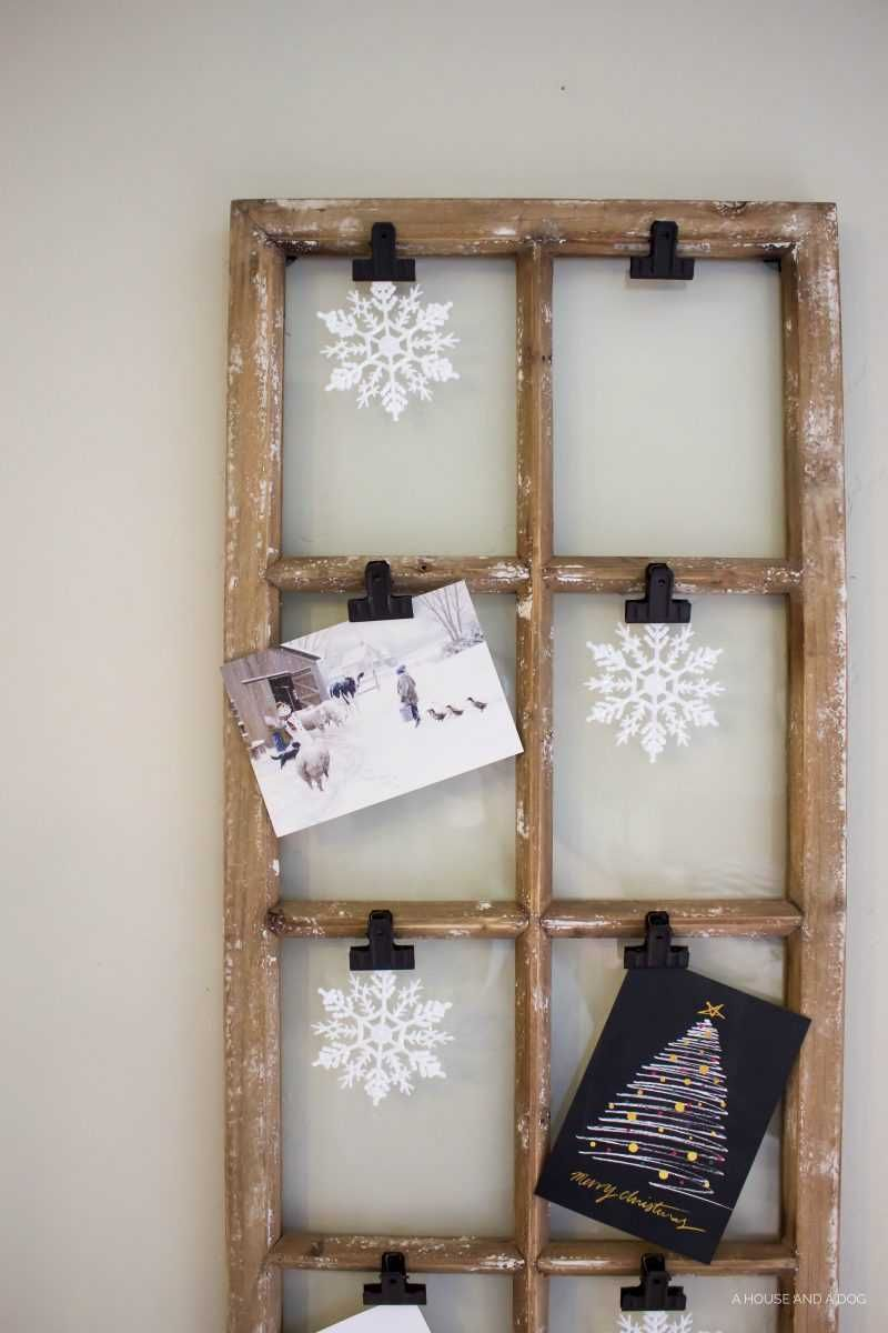 use an old window and some clips to create a one of a