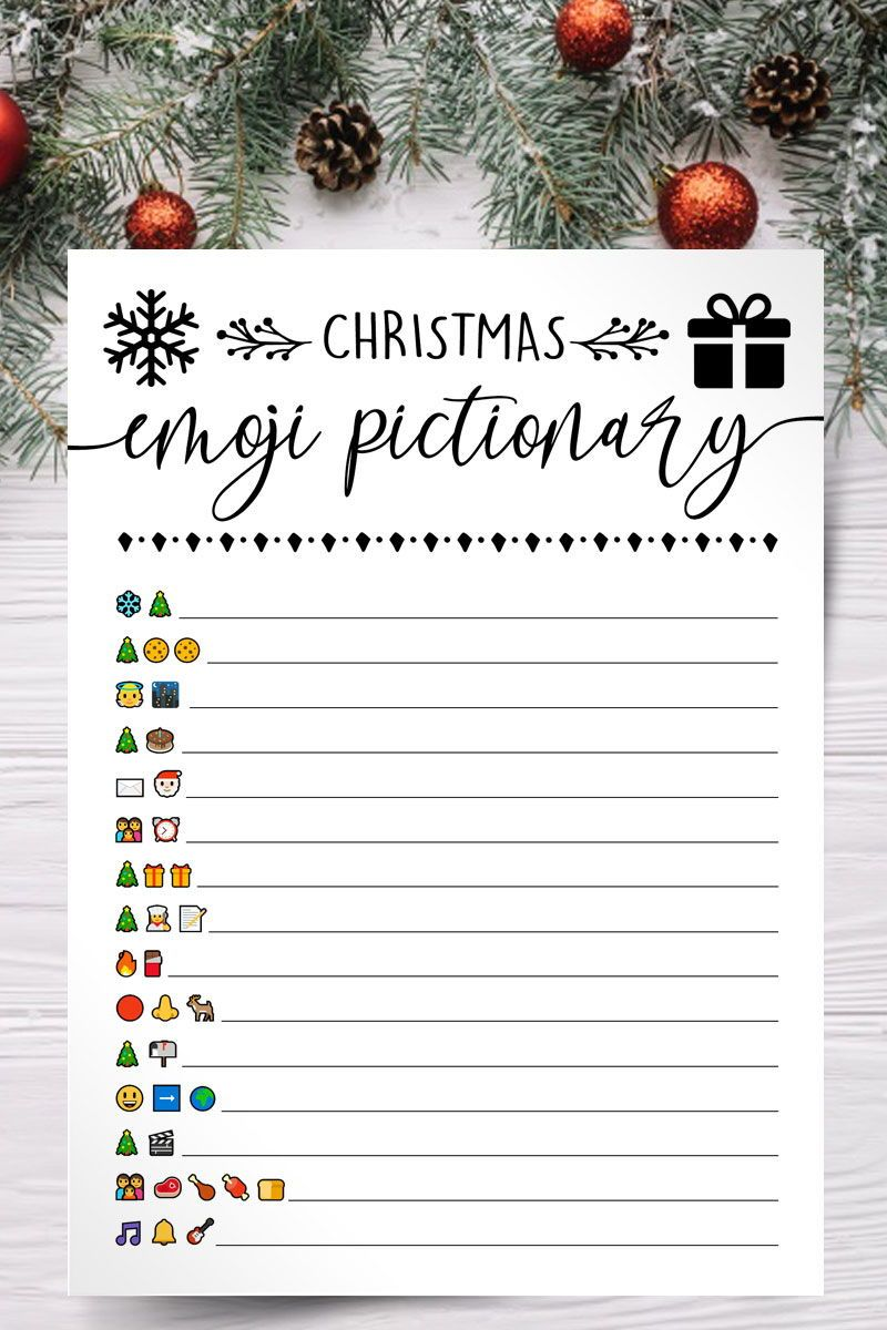 10 In One Christmas Party Games Christmas Songs Emoji Pictionary Quiz Christmas Trivia Christmas Printables 480 In 2020 Family Christmas Party Fun Christmas Games Christmas Party