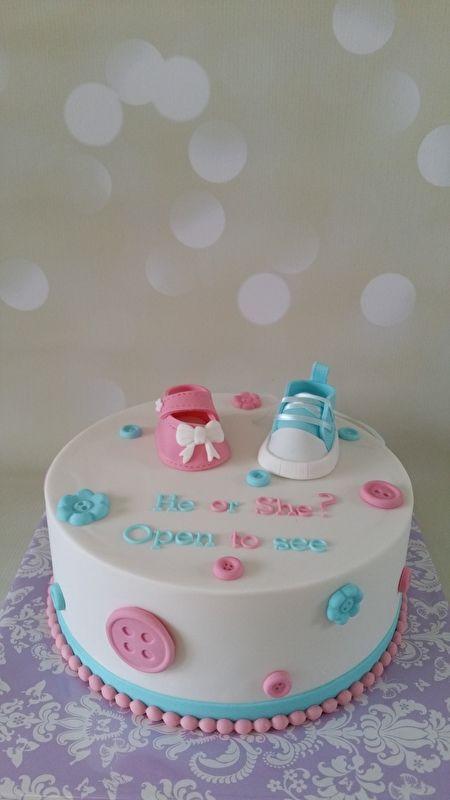 gender reveal taart   cakes