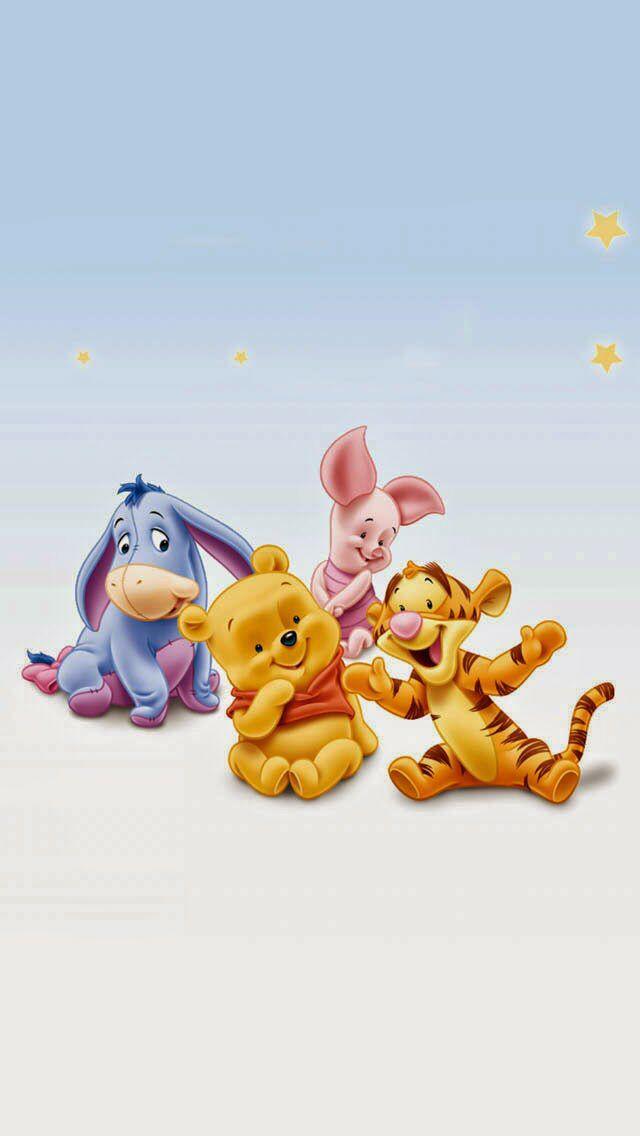 Photo Wallpaper Cute Winnie The Pooh Winnie The Pooh Baby Disney Characters