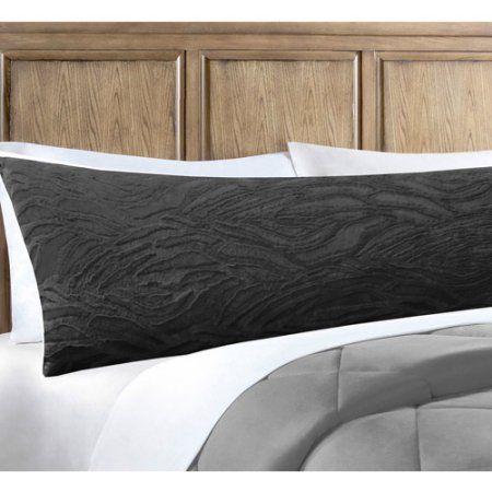 Walmart Body Pillow Cover Enchanting Your Zone Zebra Fur Body Pillow Black Pillows And Walmart