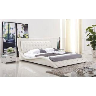 Dublin Modern White Queen Size Platform Bed