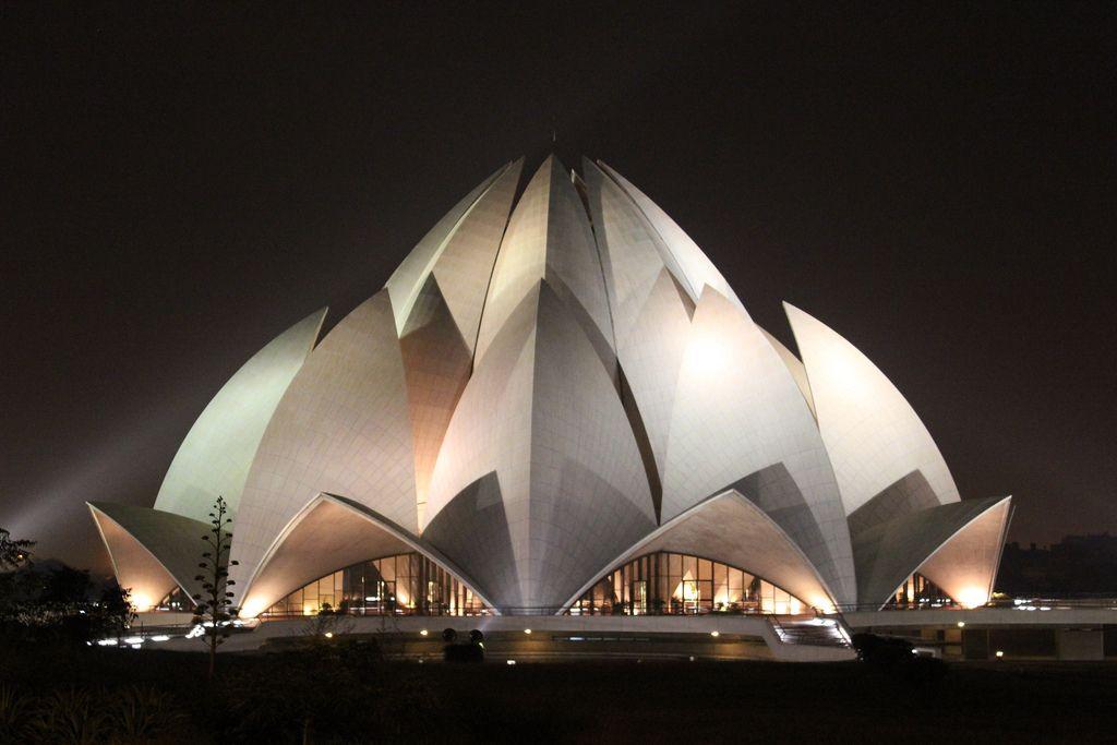Lotus Temple Delhi India Unique Buildings Amazing Buildings Architecture