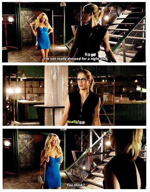 "#Arrow 3x05 ""The Secret Origin of Felicity Smoak"" - Donna and Felicity Smoak"