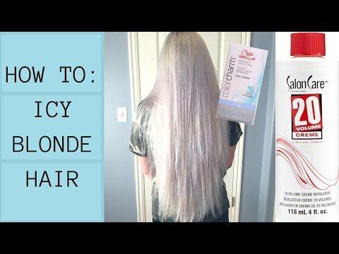 How To Diy Icy White Platinum Blonde No Damage Using