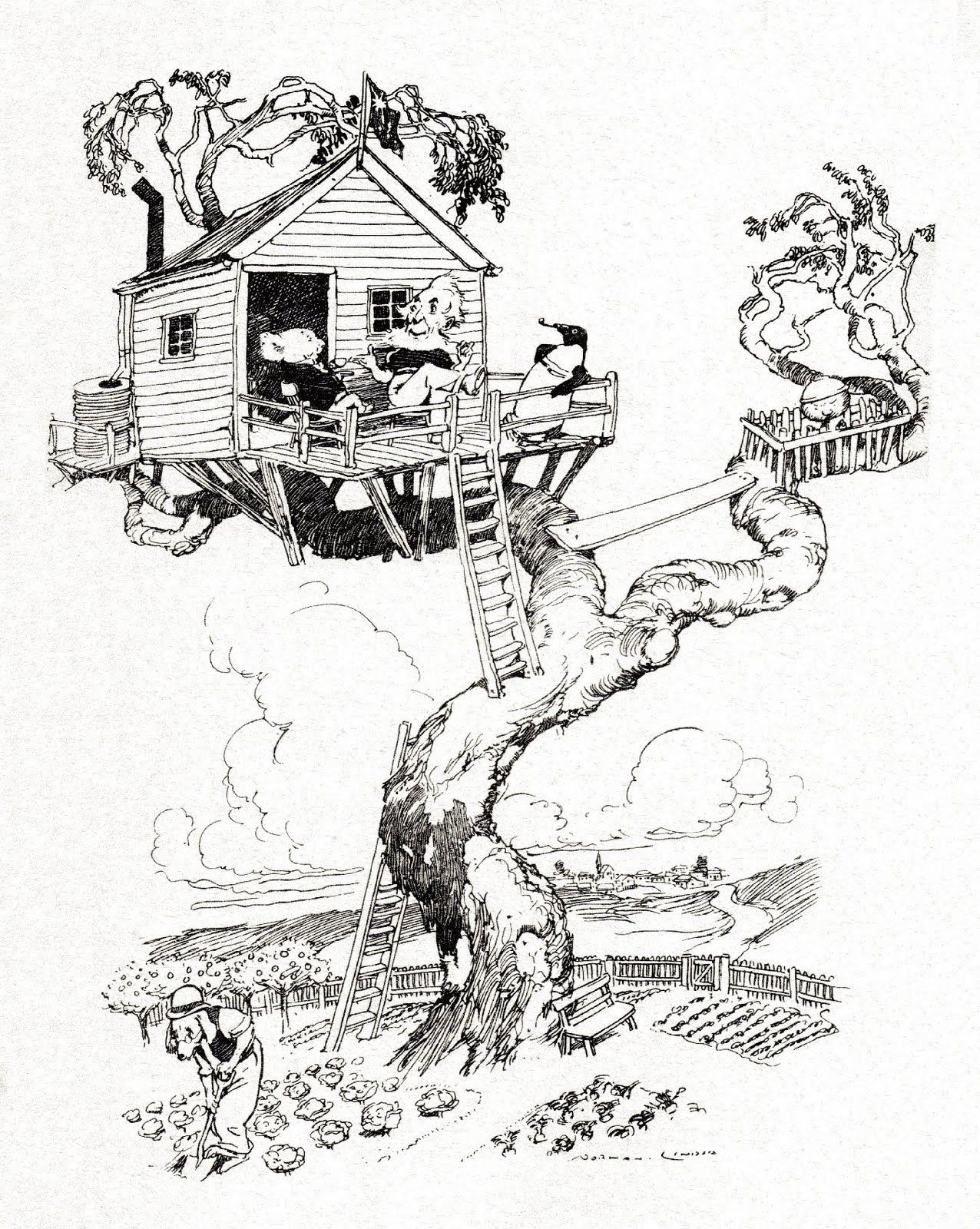 Kids House Drawing: Tree House Drawing