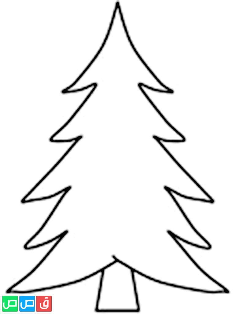 رسمة شجرة للتلوين Tree Coloring Page Christmas Tree Coloring Page Christmas Tree Template