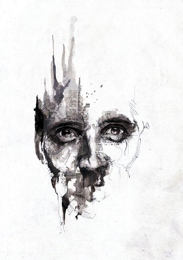 Florian Nicolle Updates Art Noir Et Blanc Dessin Visage Et