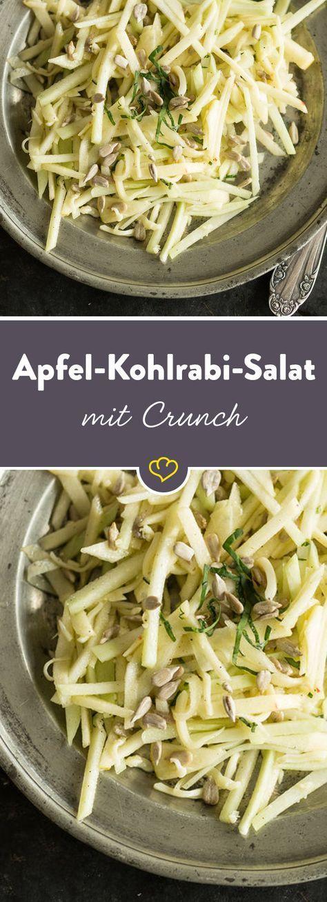Apfel-Kohlrabi-Salat mit Crunch