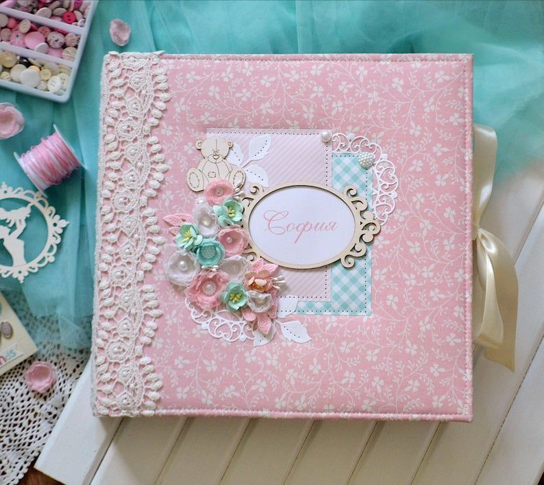 Baby memory book for girl photo album 4x6 first year
